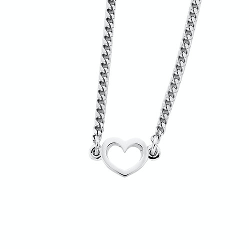 Karen Walker Mini Heart Necklace Silver kw159pnstg