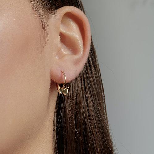 Karen Walker Butterfly Sleepers Gold in Ear
