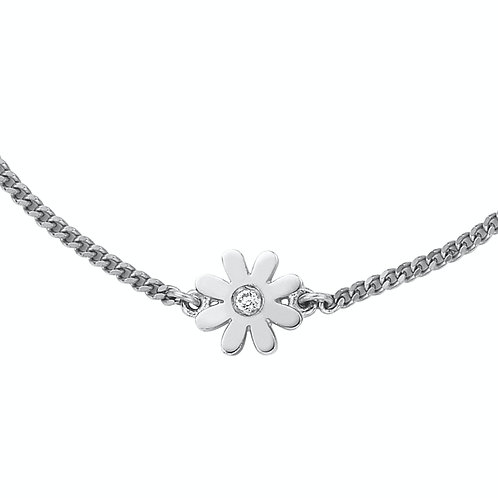 Karen Walker Mini Daisy Necklace Silver kw144pnstg Close Up