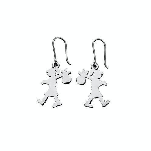 Karen Walker Runaway Girl Earrings Silver - kw22erstg