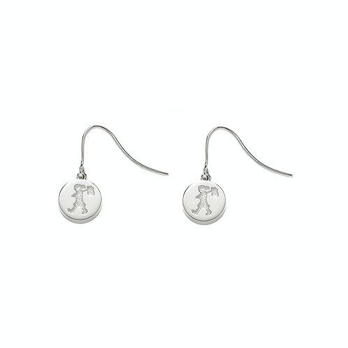 Karen Walker Runaway Stamp Earrings Silver