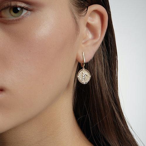 Karen Walker Voyager Earrings Gold
