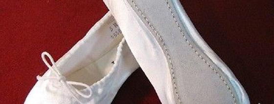 Capezio Satin Full Sole Ballet Slipper - White