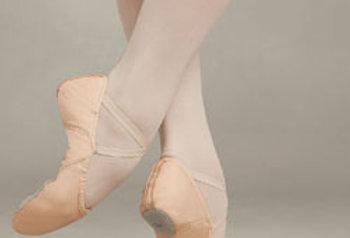2027 Capezio Juliet Leather Split Sole Ballet Shoe
