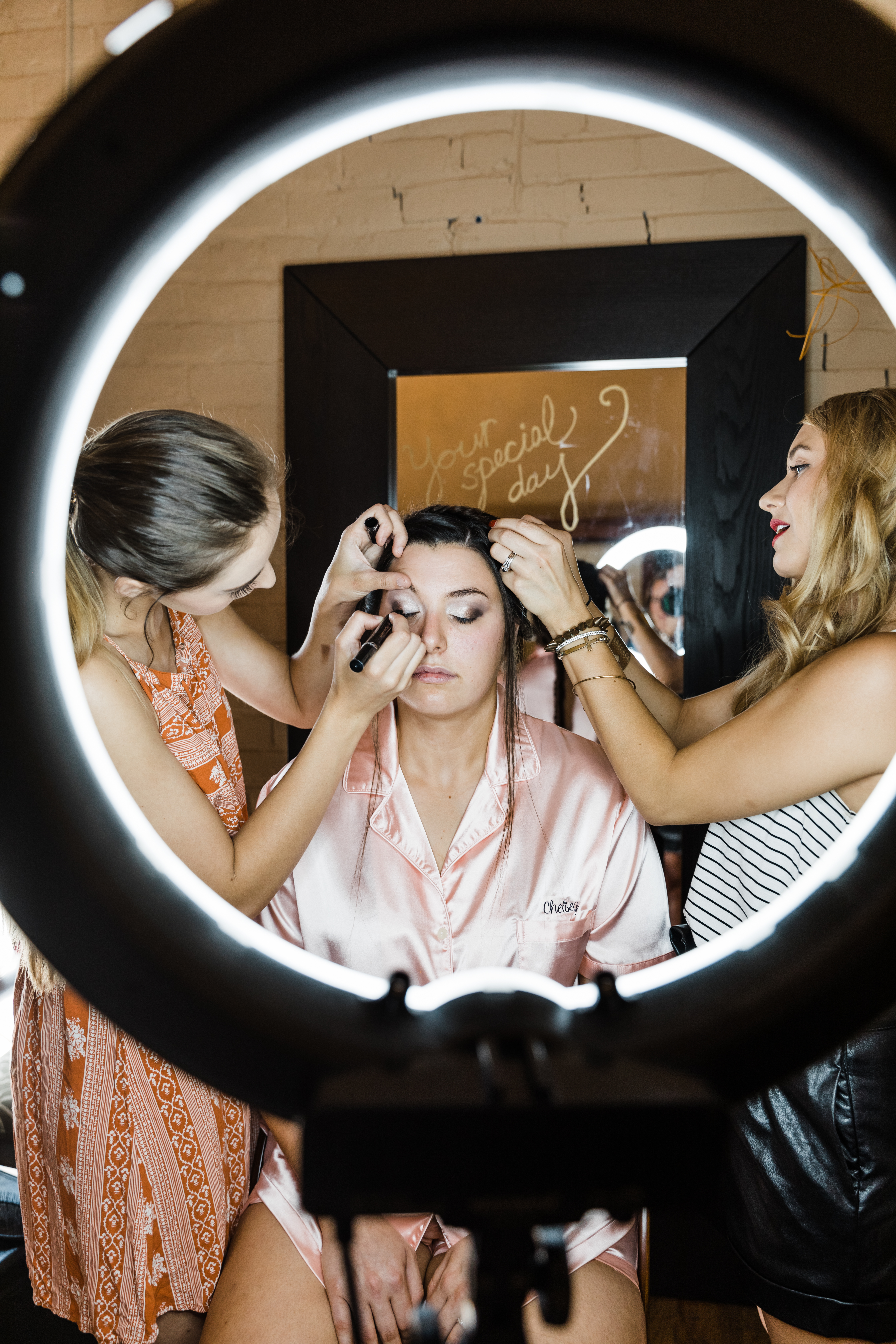 Glam up in the bridal suite.