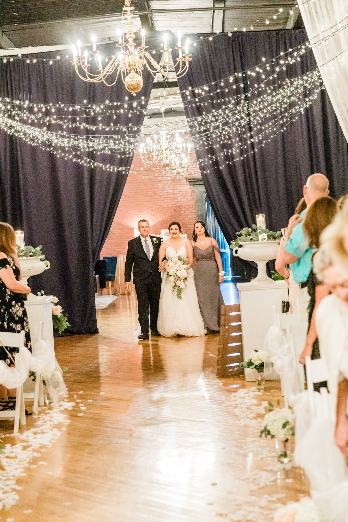Love the dramatic ceremony entrance