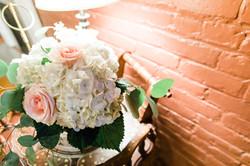 Florals and brick walls