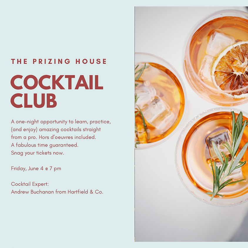 June 4, 2021 Cocktail Club - Sold Out