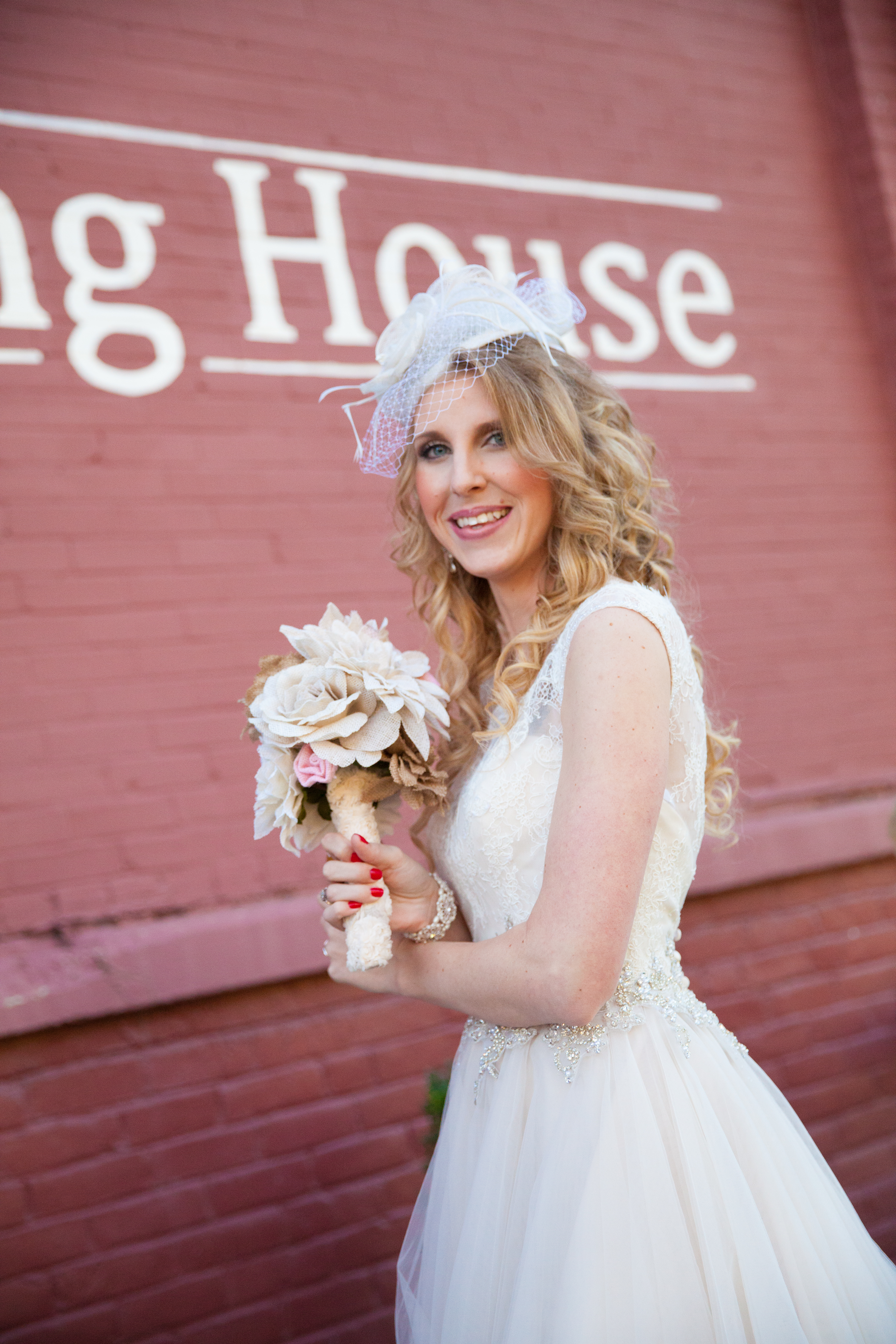 Outdoor photo of bride