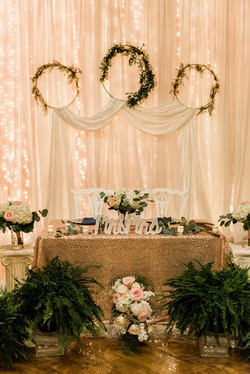 Glam sweetheart table style