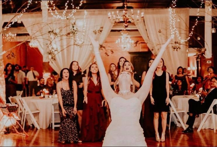That bouquet toss!