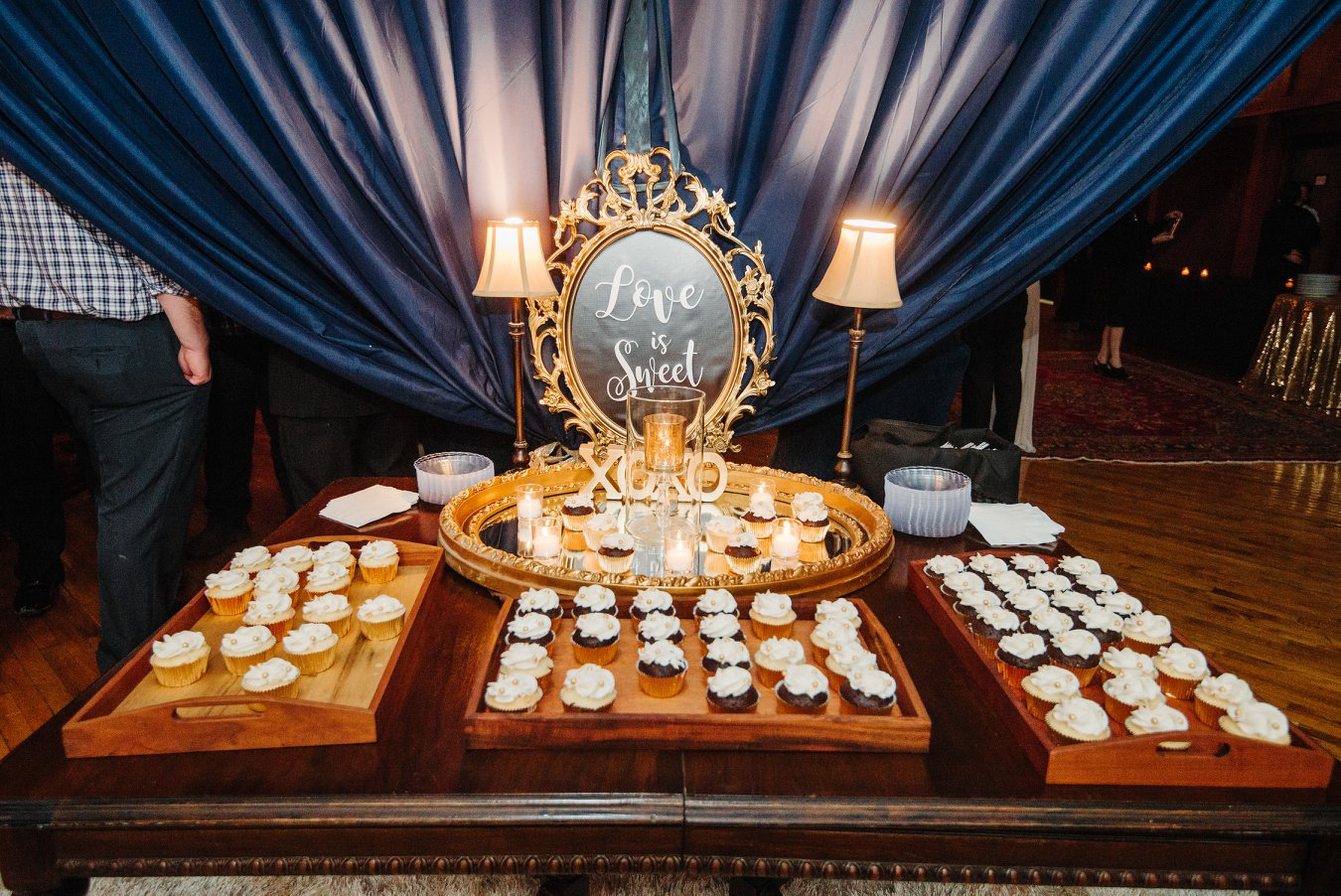 Elegant dessert displays