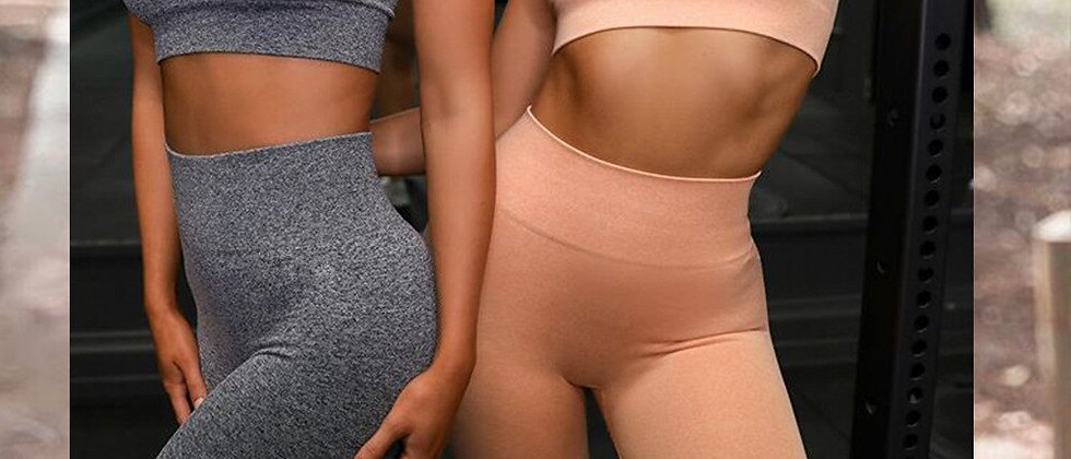 Palmier Crop Top + leggings Fashion Sets
