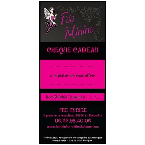"""Chèque Cadeau """"Modelage Corps Relaxant 1h"""""""