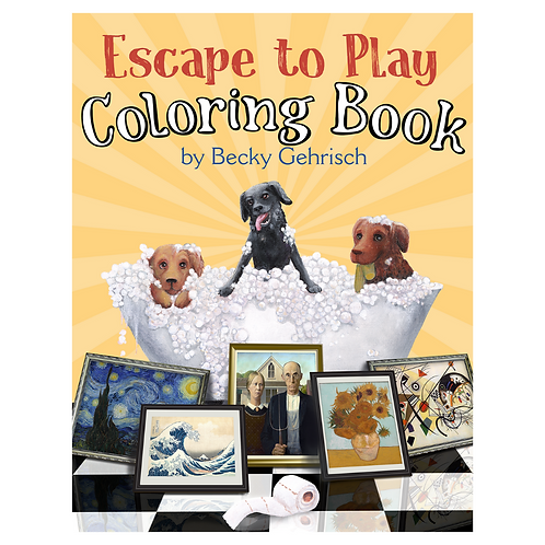 Escape to Play coloring book