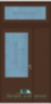 Alt-тамбурная дверь со стеклом