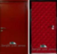 Alt-Металлическая дверь для дачи с порошковым напылением красного цвета