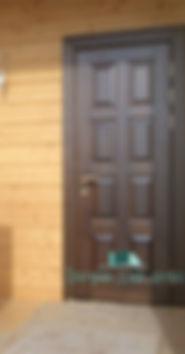 Alt-металлическя дверь для загородного дома с МДФ