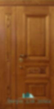 Alt-дверь металлическая двухстворчатая с массивом дуба