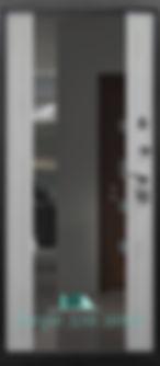 Alt-дверь с зеркалом металлическая входная