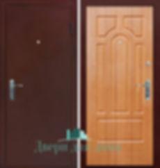 Alt-металлическая верь с порошковым напылением и МДФ панелью коричневого цвета