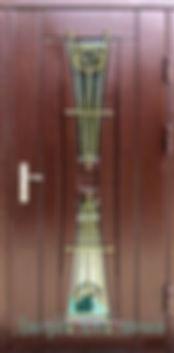 Alt-дверь со стеклом и ковкой
