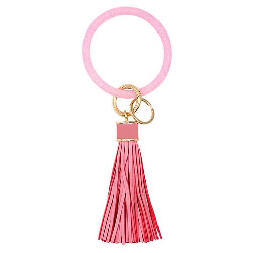 Silicone Key Ring w/ Tassel