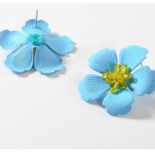 Oversized Spring Flower Earrings
