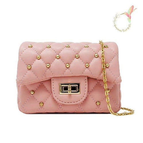 Quilted Stud Mini Bag