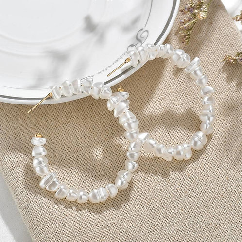 PearlOn Oversized Hoop Earrings