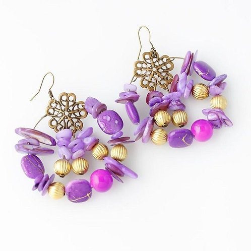 Boho Beaded Handmade Earrings