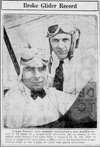 Jimmy Van Cise glider pilot photo with c