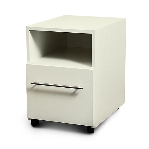 Rolling nightstand for folding bed with desk by Hiddenbed Direct