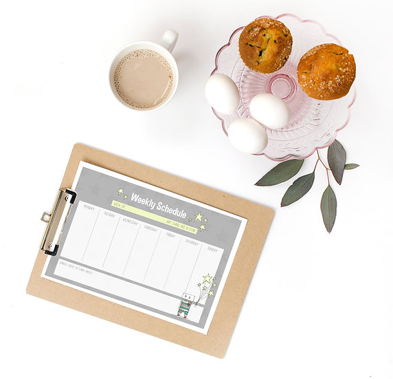 Shine like a star weekly planner