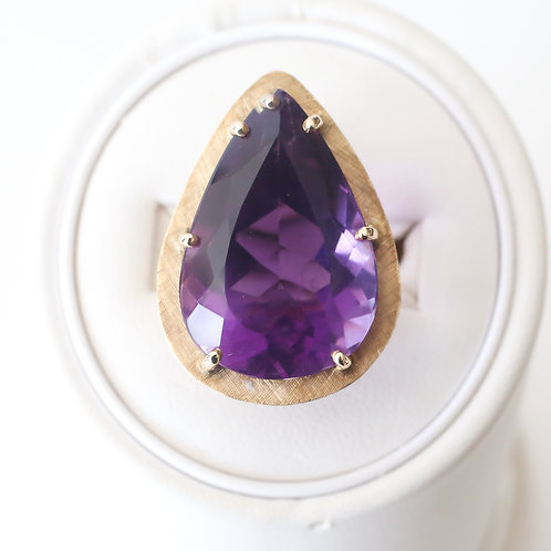 Prong Set Amethyst Cocktail Ring