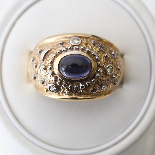 Galaxy Ring with Oval Sapphire