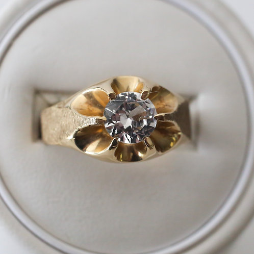 Gents White Spinel Ring