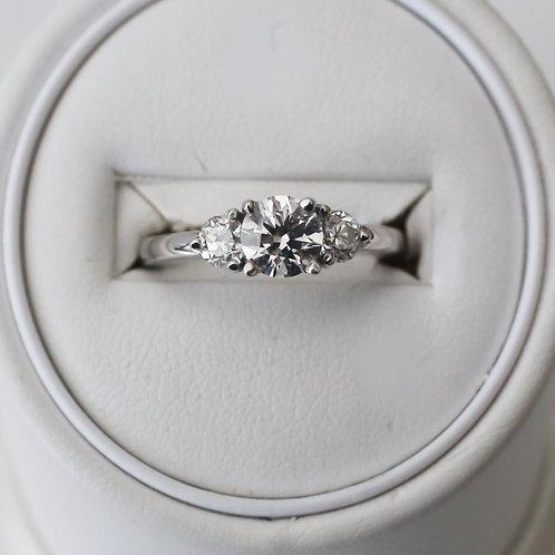 White Gold 3 Stone Diamond Ring