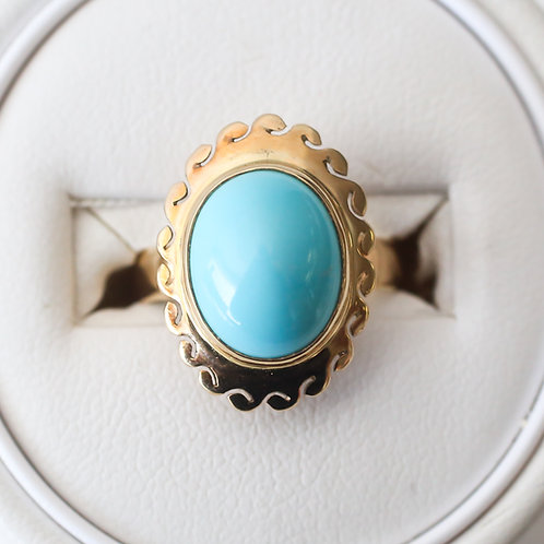 Persian Turquoise and Gold Ring