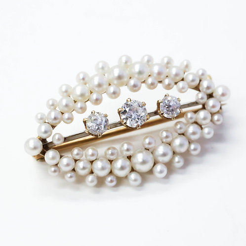Pearl and Diamond Pin