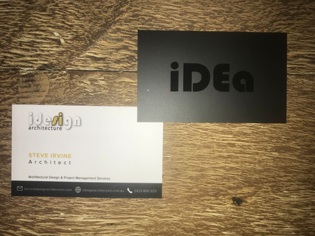 Flash new iDesign business card are here!