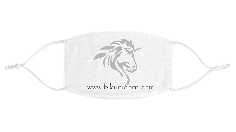 Fabric Face Mask with Silver Logo