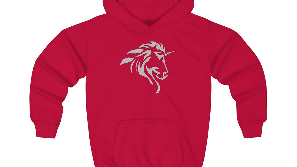 Kids Hoodie with Silver Logo