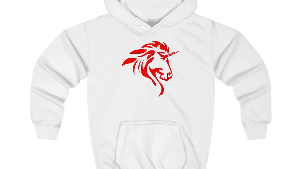 Kids Hoodie with Red Logo