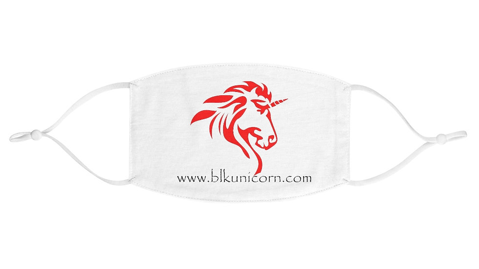 Fabric Face Mask with Red Logo