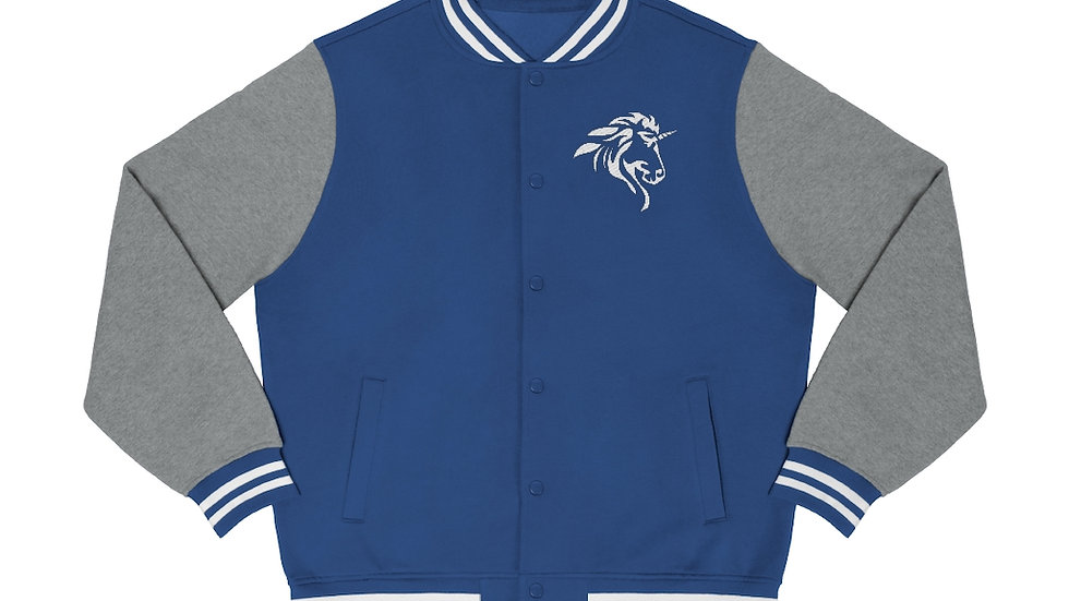 Men's Varsity Jacket with White Logo