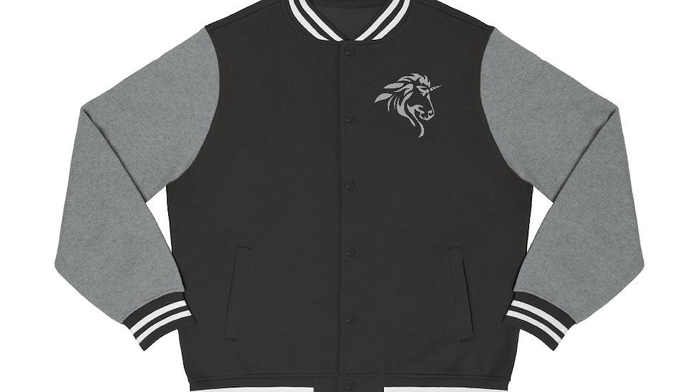 Men's Varsity Jacket with Silver Logo