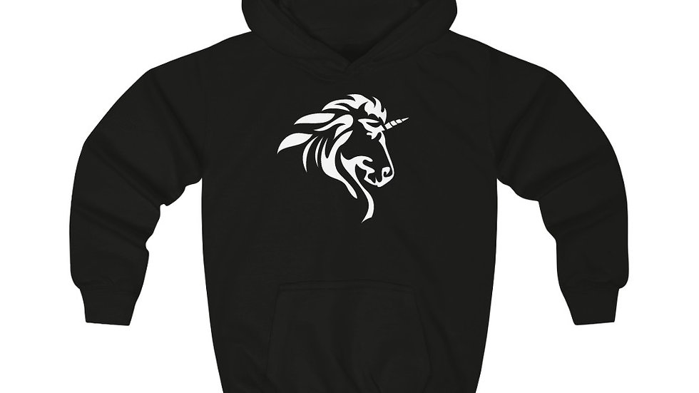Kids Hoodie with White Logo