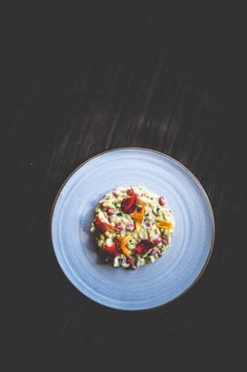 Scottish lobster, saffron & strawberry risotto