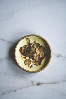 St. Ewes egg, celeriac, autumn truffle, hazelnut and brown butter